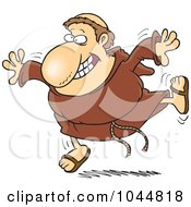 Royalty Free RF Clip Art Illustration Of A Cartoon Happy Friar by toonaday