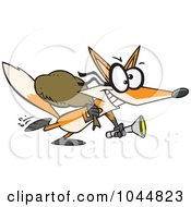 Royalty Free RF Clip Art Illustration Of A Cartoon Robbing Fox by toonaday