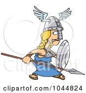 Royalty Free RF Clip Art Illustration Of A Cartoon Goddess Freya by toonaday