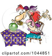Royalty Free RF Clip Art Illustration Of A Cartoon Female Fortune Teller