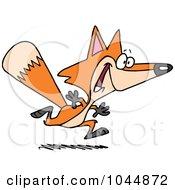 Royalty Free RF Clip Art Illustration Of A Cartoon Running Fox by toonaday