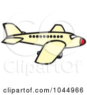 Royalty Free RF Clipart Illustration Of A Commercial Plane