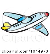 Royalty Free RF Clipart Illustration Of A Commercial Airliner