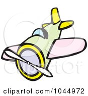 Royalty Free RF Clipart Illustration Of A Cartoon Airplane
