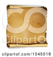 Royalty Free RF Clip Art Illustration Of A 3d Aged Curling Parchment Paper