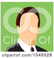 Royalty Free RF Clip Art Illustration Of A Faceless Businessman Avatar 1