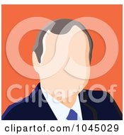 Royalty Free RF Clip Art Illustration Of A Faceless Businessman Avatar 4 by yayayoyo