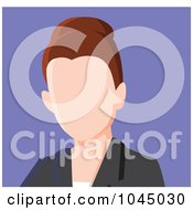 Royalty Free RF Clip Art Illustration Of A Faceless Businesswoman Avatar 4
