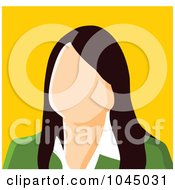 Royalty Free RF Clip Art Illustration Of A Faceless Businesswoman Avatar 1