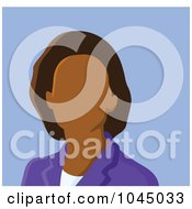 Royalty Free RF Clip Art Illustration Of A Faceless Businesswoman Avatar 2