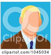 Royalty Free RF Clip Art Illustration Of A Faceless Businessman Avatar 3