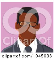 Royalty Free RF Clip Art Illustration Of A Faceless Businessman Avatar 2