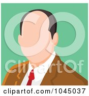 Royalty Free RF Clip Art Illustration Of A Faceless Businessman Avatar 5