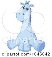 Royalty Free RF Clip Art Illustration Of A Cute Blue Baby Giraffe by yayayoyo #COLLC1045042-0157