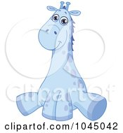 Poster, Art Print Of Cute Blue Baby Giraffe