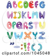 Royalty Free RF Clip Art Illustration Of A Digital Collage Of Colorful Alphabet Characters