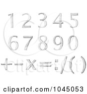 Royalty Free RF Clip Art Illustration Of A Digital Collage Of Sketched Numbers