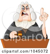 Royalty Free RF Clip Art Illustration Of A Stern Judge Holding Up A Finger