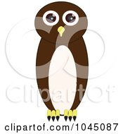 Royalty-Free (RF) Clip Art Illustration of a Brown Owl by JR #COLLC1045087-0123