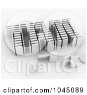 Royalty Free RF Clip Art Illustration Of A 3d Word TAX