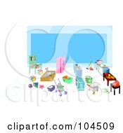 Royalty Free RF Clipart Illustration Of A Childrens Grocery Play Area