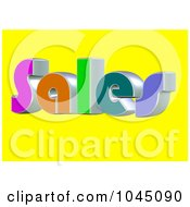 Royalty Free RF Clip Art Illustration Of A 3d Word Sales On A Yellow Background