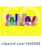 Royalty Free RF Clip Art Illustration Of A 3d Word Soldes On A Yellow Background