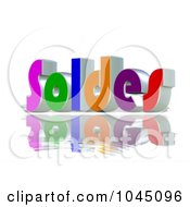 Royalty Free RF Clip Art Illustration Of A 3d Word Soldes On A Reflective White Backgroun