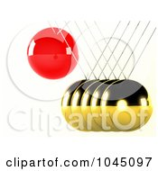 Royalty Free RF Clip Art Illustration Of A 3d Pendulum Swinging 4