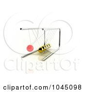 Royalty Free RF Clip Art Illustration Of A 3d Pendulum Swinging 1