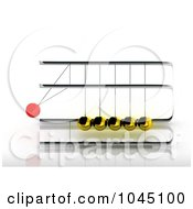 Royalty Free RF Clip Art Illustration Of A 3d Pendulum Swinging 2