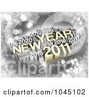 3d Gold And Silver New Year 2011 Word Collage