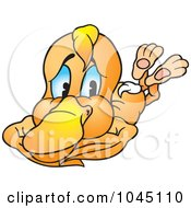 Royalty Free RF Clip Art Illustration Of A Yellow Duck 5 by dero
