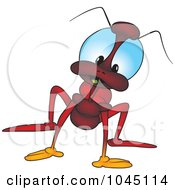 Royalty Free RF Clip Art Illustration Of A Red Bug