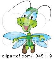 Royalty Free RF Clip Art Illustration Of A Green Bug