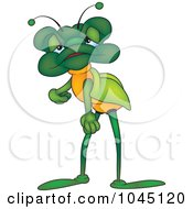 Royalty Free RF Clip Art Illustration Of A Tired Bug