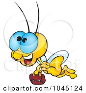 Royalty Free RF Clip Art Illustration Of A Bug Carrying A Briefcase