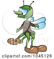 Royalty Free RF Clip Art Illustration Of A Four Legged Bug