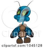 Royalty Free RF Clip Art Illustration Of A Blue Bug