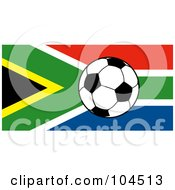Royalty Free RF Clipart Illustration Of A South African Flag With A Soccer Ball
