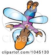 Royalty Free RF Clip Art Illustration Of A Flying Bug