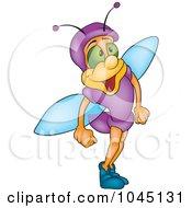 Royalty Free RF Clip Art Illustration Of A Purple Bug