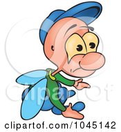 Royalty Free RF Clip Art Illustration Of A Pouting Bug