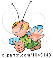 Royalty Free RF Clip Art Illustration Of A Gesturing Bug