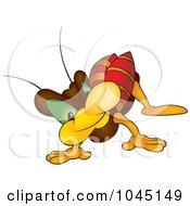 Royalty Free RF Clip Art Illustration Of A Crawling Bug