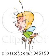 Royalty Free RF Clip Art Illustration Of A Crying Bug