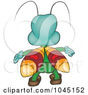 Royalty Free RF Clip Art Illustration Of A Bugs Back