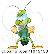 Royalty Free RF Clip Art Illustration Of A Victorious Bug