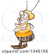 Royalty Free RF Clip Art Illustration Of A Fat Bug