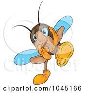 Royalty Free RF Clip Art Illustration Of A Worried Bug